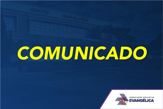 Comunicado – Recesso Carnaval